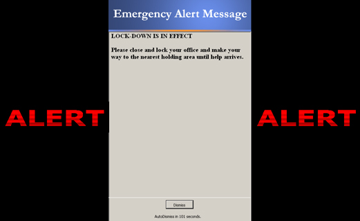 When an alert is sent, all computers instantly display the full-screen alert message -- regardless to what the user is doing. Runs as a system service- no one needs to be logged-on. Send alert messages to thousands of computers in seconds.